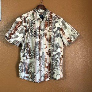 Caribbean Joe's Hawaiian Aloha Button Down Shirt